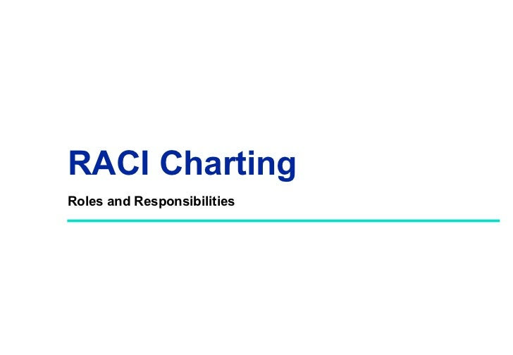 RACI ChartingRoles and Responsibilities