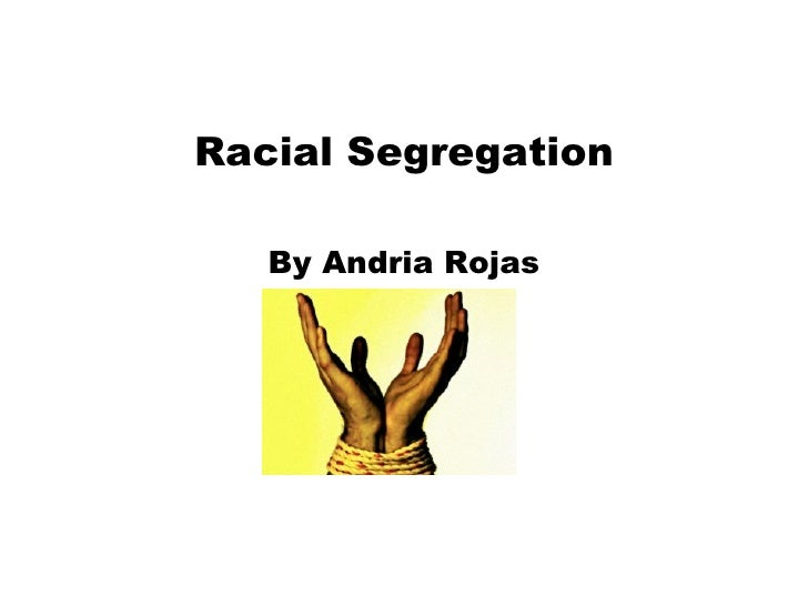 racial segregation essay based on a