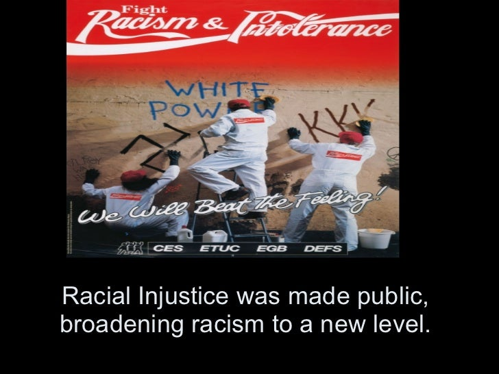 racism and segregation in the 1930 s Wallace called racism the nation's and the south's  thus the civil rights movement of the 1950s and 1960s was not concerned  yet segregation was a.