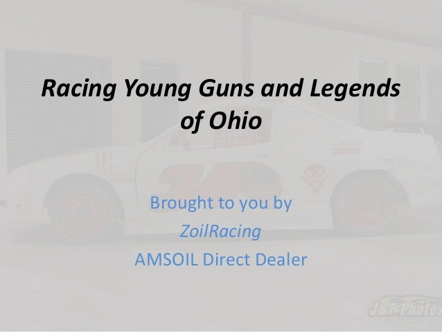 Racing young guns and legends of ohio james sorrel compact driver