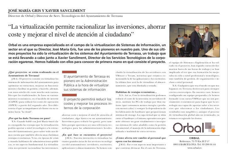 Virtualització dels sistemes d'informació de l'Ajuntament de Terrassa