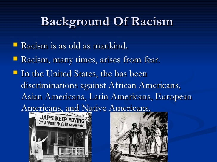 african americans and southern racism during American race and racism 1970 to present african americans , congress passed a bill intended to apologize to japanese americans who were interned during.