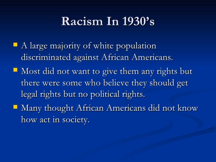 an analysis of racism in the african american society Is racism a permanent feature of american society is racism a permanent feature of american society throughout slavery (1619-1865), americans faced prejudice, segregation and racism.