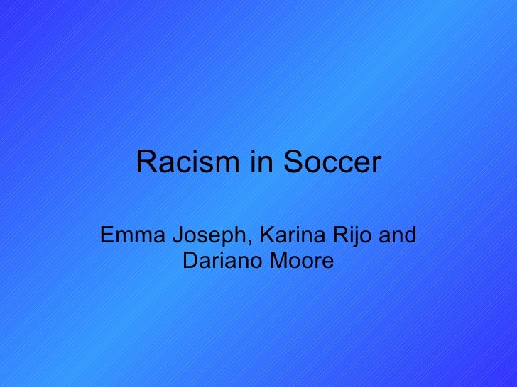 Racism in soccer