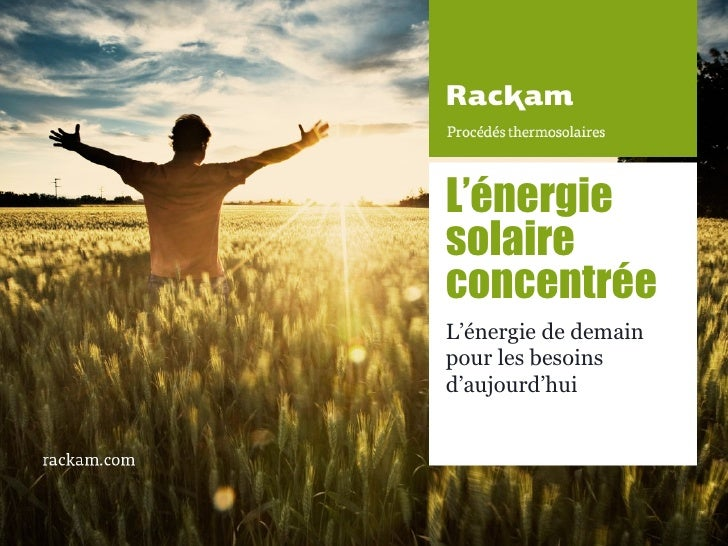 Rendez-Vous des Technologies Propres - Rackam