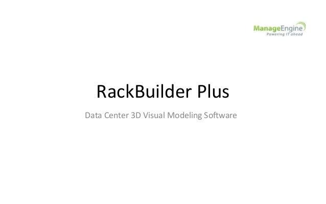 RackBuilder Plus Data Center 3D Visual Modeling Software