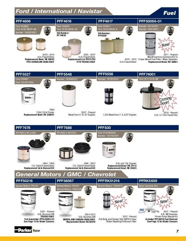 racor filtration catalog
