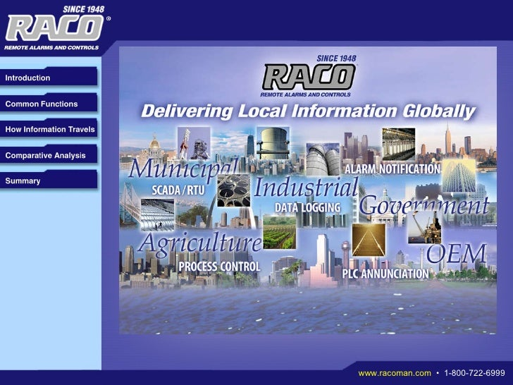 RACO Whitepaper - Information Delivery for Remote Monitoring Systems: An Analysis of Communication Platforms