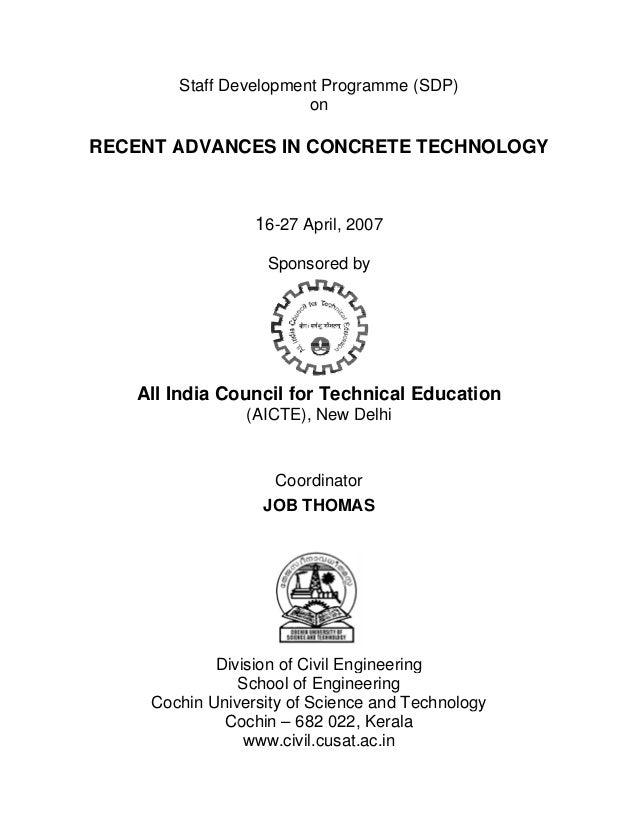 Recent Advances in Concrete Technology
