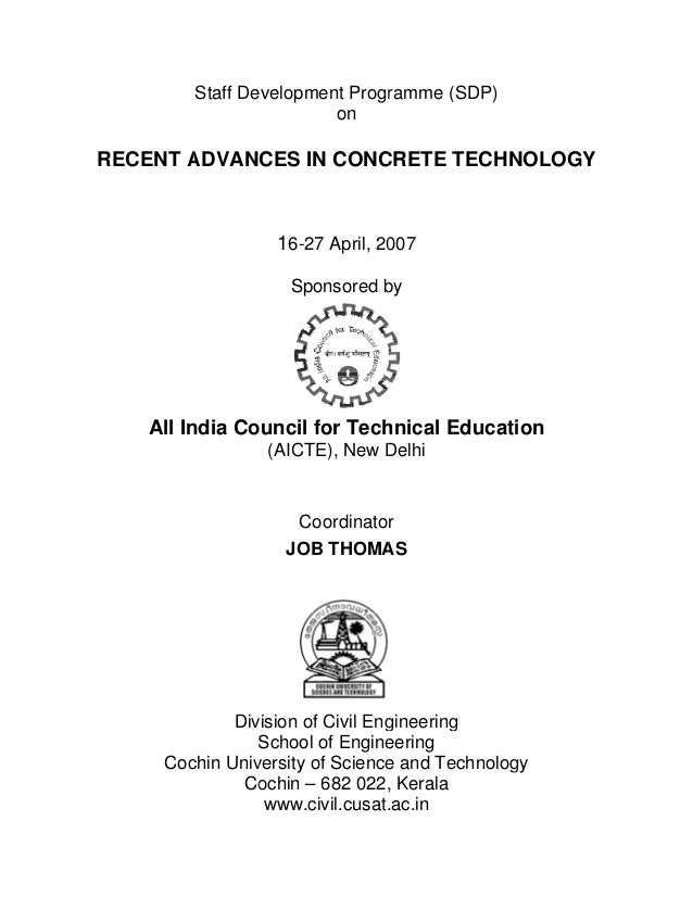Recent Advances in Concrete Technology