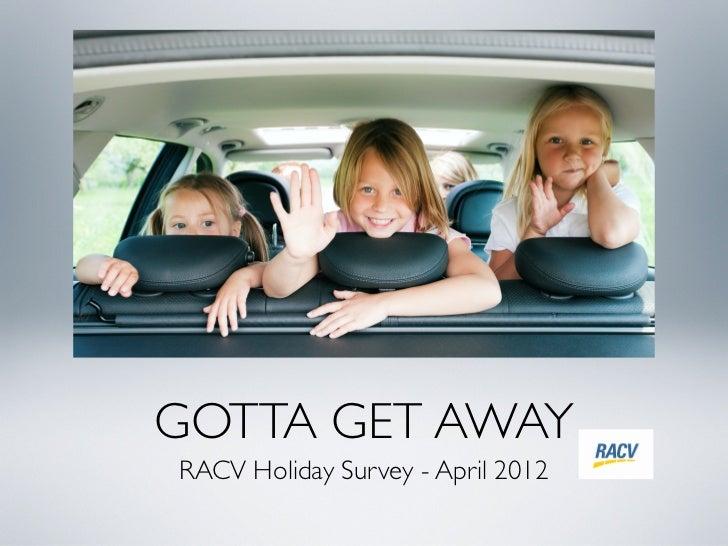 RACV Member Travel Survey - April 2012