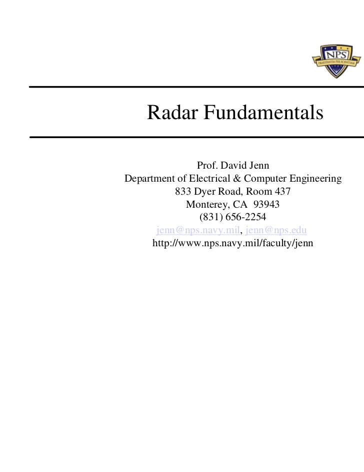 Radar fundamentals