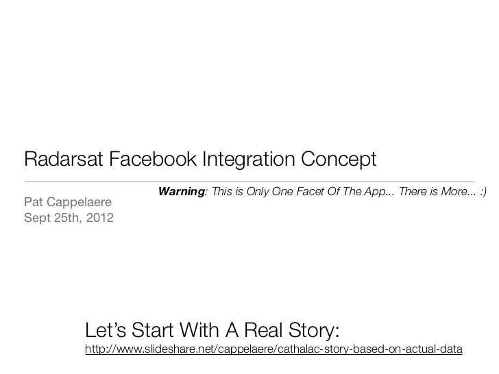 Radarsat Facebook Integration Concept                       Warning: This is Only One Facet Of The App... There is More......