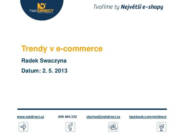Trendy v e-commerce