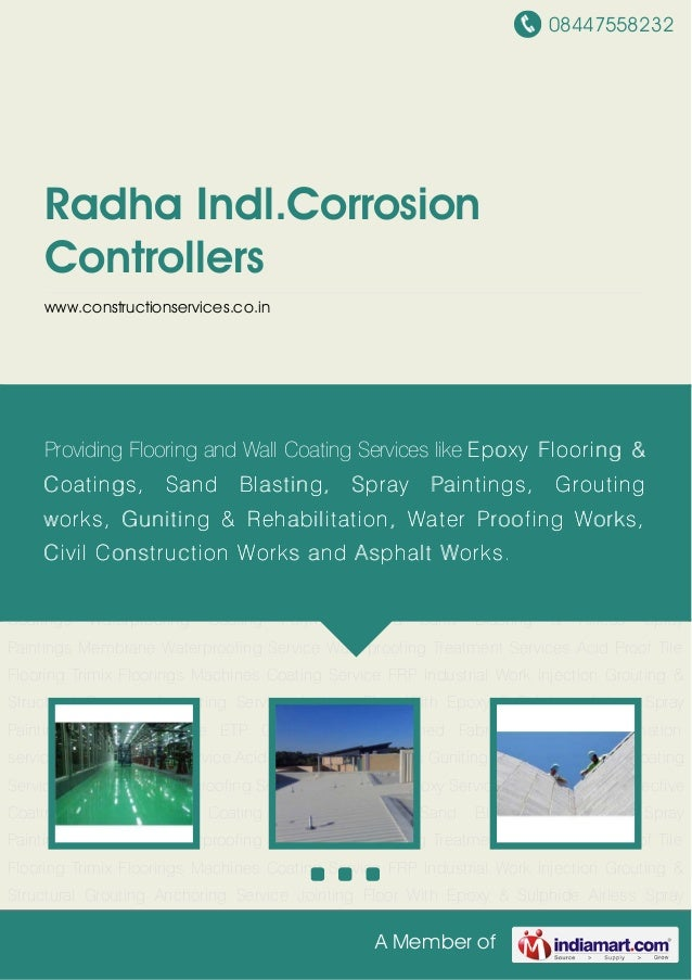 08447558232A Member ofRadha Indl.CorrosionControllerswww.constructionservices.co.inPU Epoxy Coating Service Bituminous Wat...