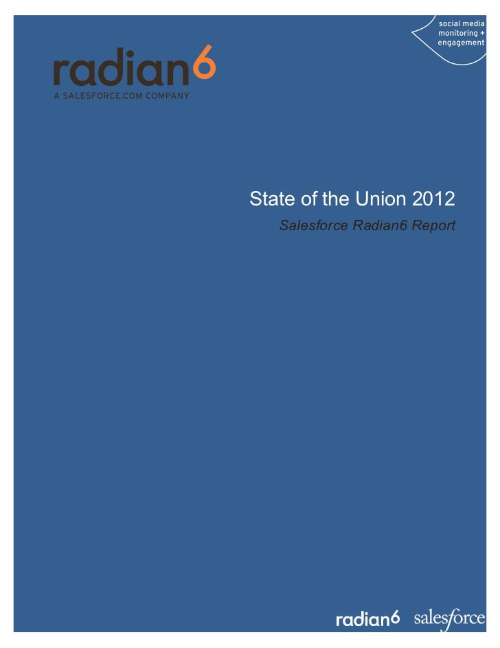 State of the Union 2012   Salesforce Radian6 Report