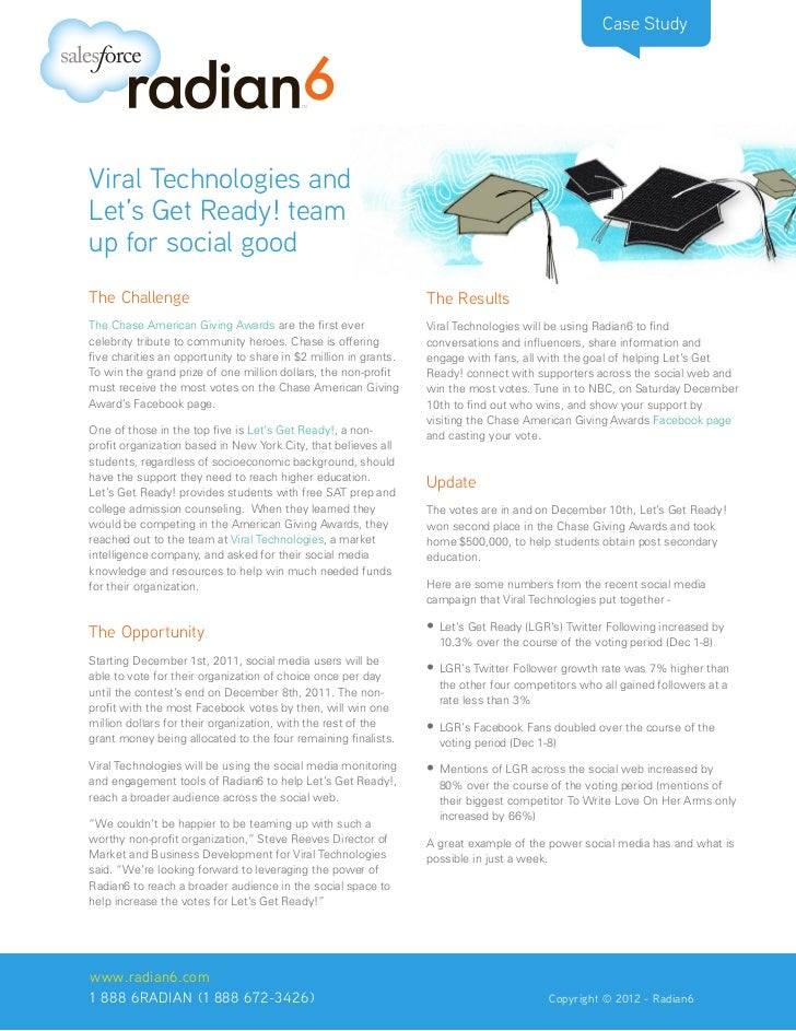 Case StudyViral Technologies andLet's Get Ready! teamup for social goodThe Challenge                                      ...