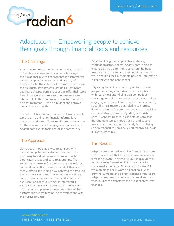 Case Study / Adaptu.comAdaptu.com – Empowering people to achievetheir goals through financial tools and resources.The Chal...