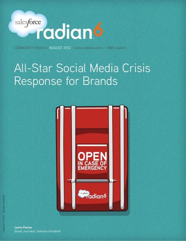 COMMUNITY EBOOK / AUGUST 2012 / www.radian6.com / 1 888 6radian                                        All-Star Social Med...