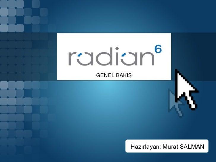 Radian6'ya Genel Bakış