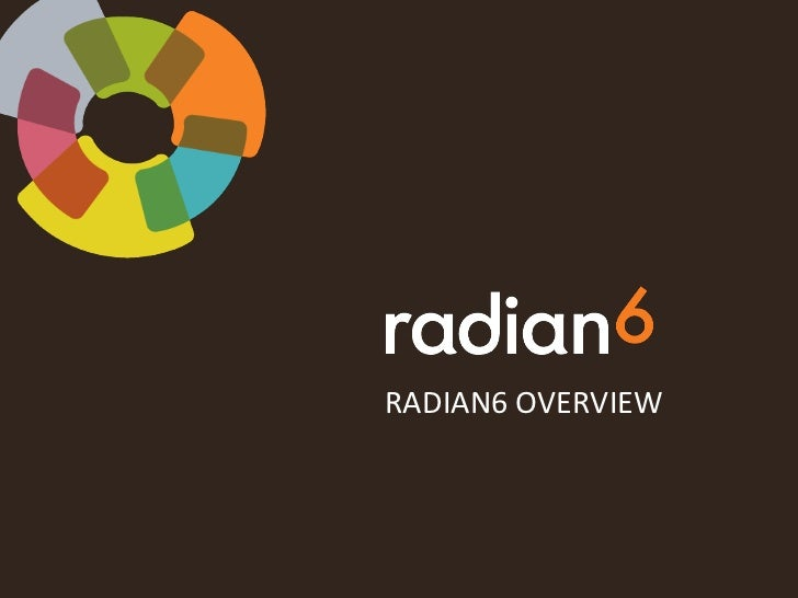 Radian6 Overview