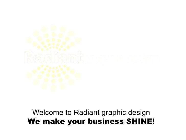 Radiant Graphic Design portfolio