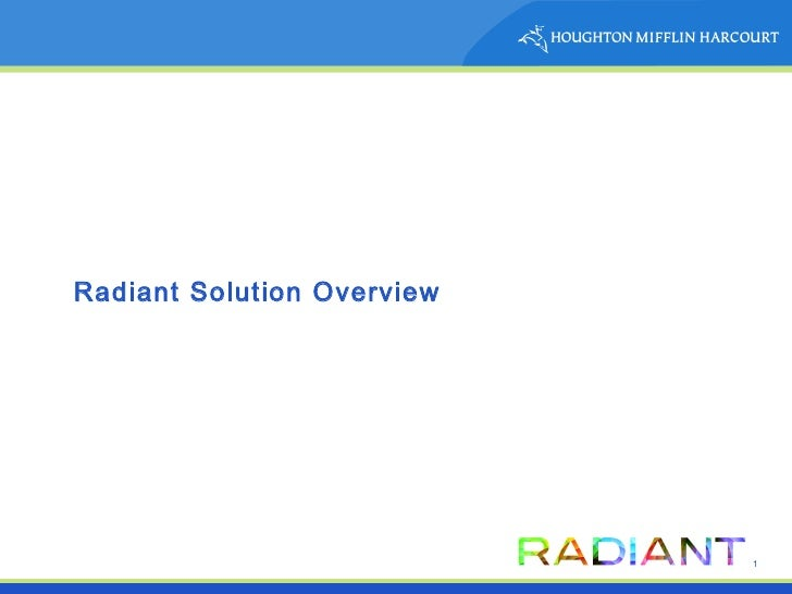 Radiant Solution Overview