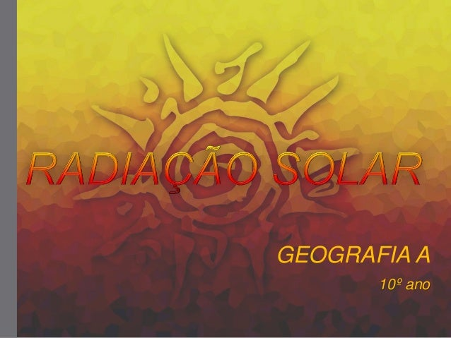 Radiação solar.2014