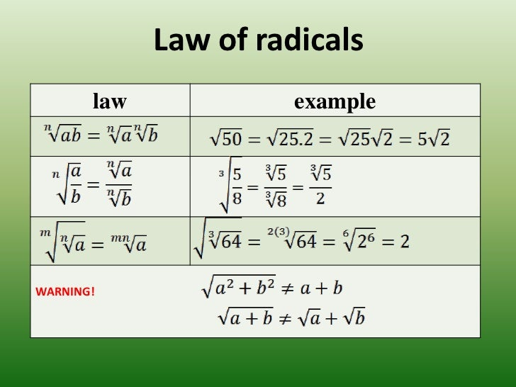 Radical And Exponents 2
