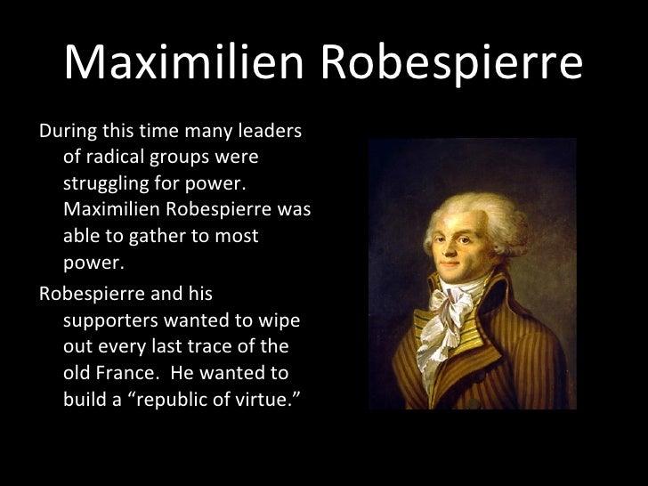 Robespierre's republic of virtue?
