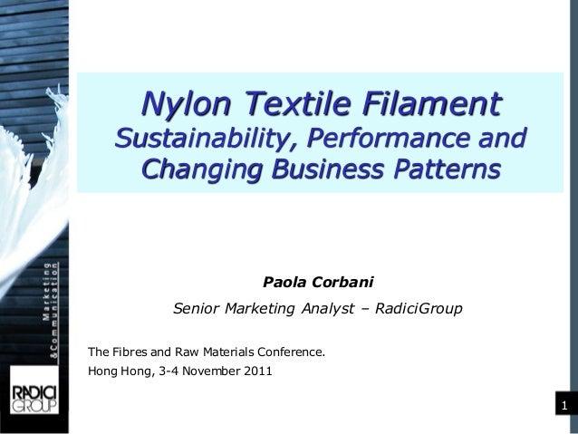 RadiciGroup at Fibres and Raw Materials Conference - 3-4 November 2011