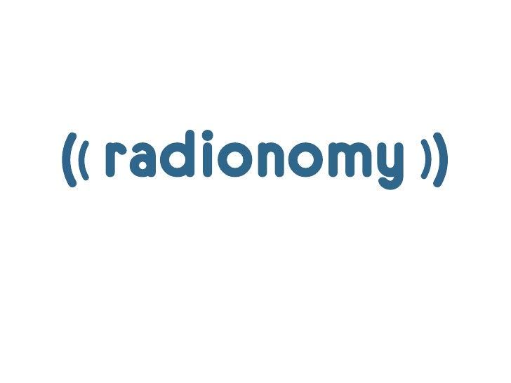 Radio 2.0 le nouvel âge d'or de la radio RADIONOMY par Alexandre Saboudjian @ Rencontres Radio 2.0 Paris