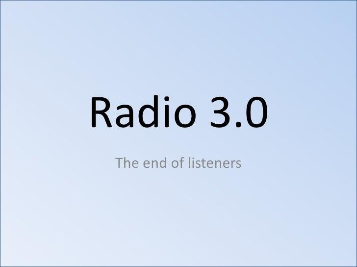 Radio 3.0   radio and digital in the developing world