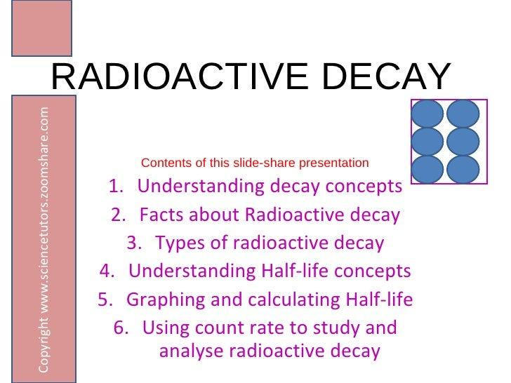 RADIOACTIVE DECAY AND HALF-LIFE CONCEPTS