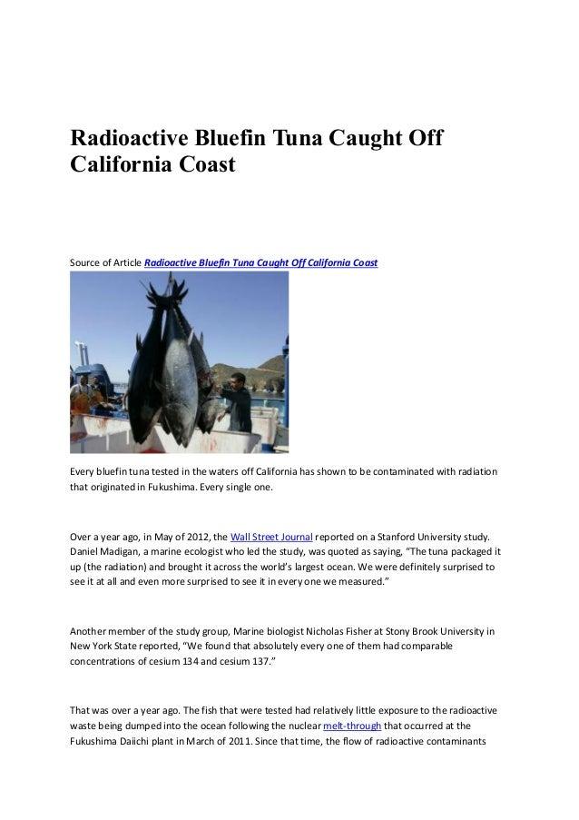 Radioactive Bluefin Tuna Caught Off California Coast Source of Article Radioactive Bluefin Tuna Caught Off California Coas...