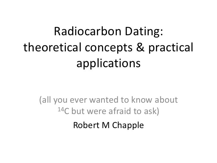 Radiocarbon dating  theoretical concepts & practical applications