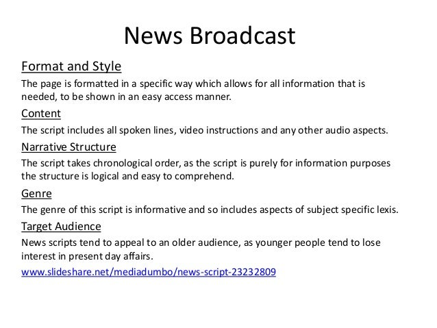 narrative report format