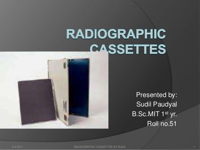 Radiographic Cassettes