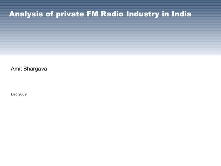 Private FM Radio Industry In India