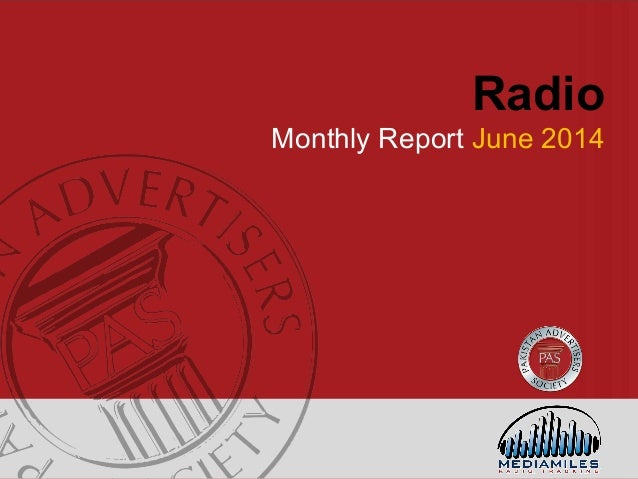 Radio Monthly Report June 2014