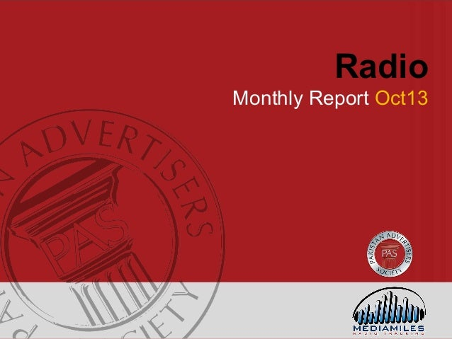 Pakistan Radio Industry Advertising Snapshot – October 2013
