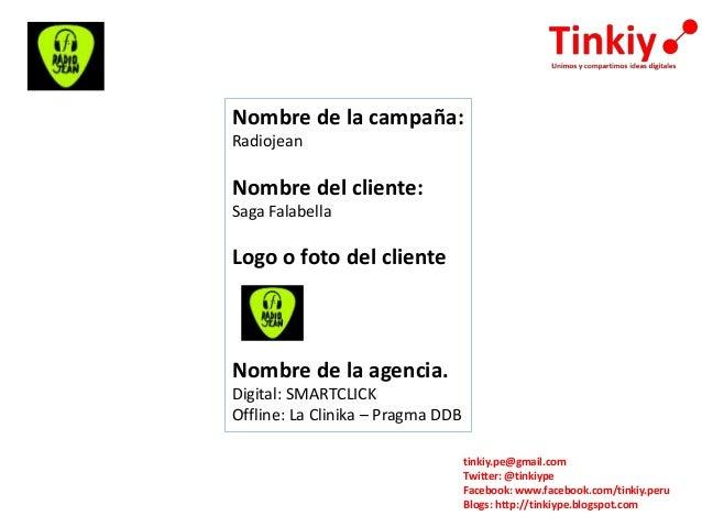 tinkiy.pe@gmail.com Twitter: @tinkiype Facebook: www.facebook.com/tinkiy.peru Blogs: http://tinkiype.blogspot.com Nombre d...