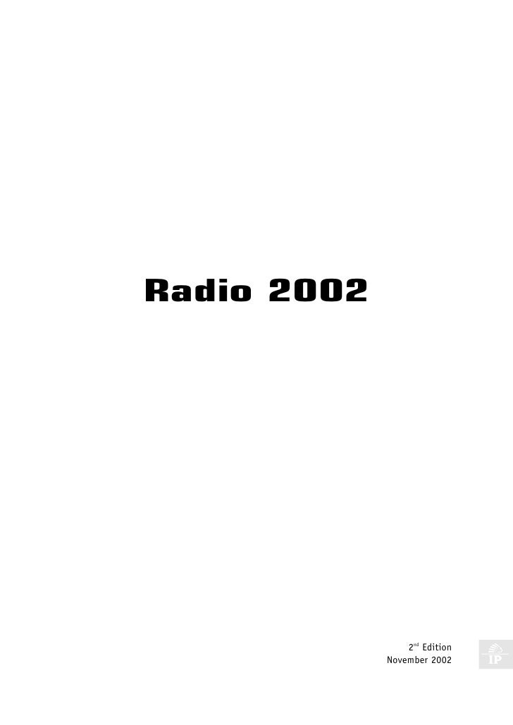 Radio Key Facts 2002