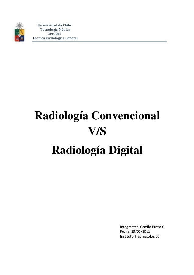 Radiologia digital vs convencional