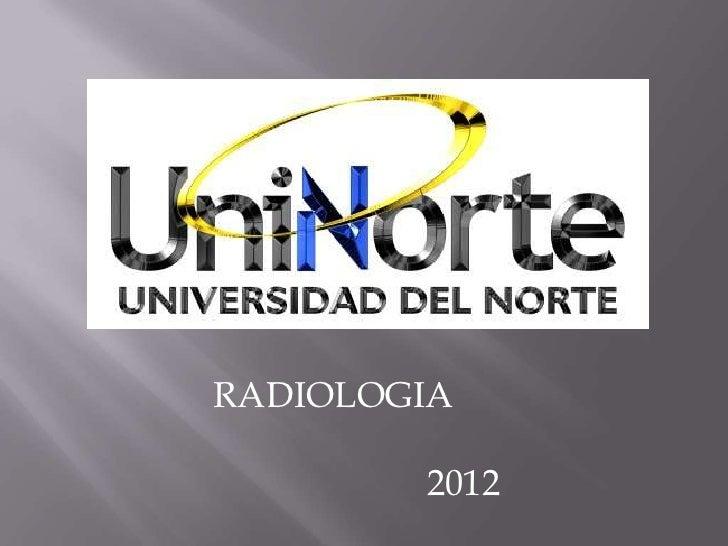 RADIOLOGIA        2012