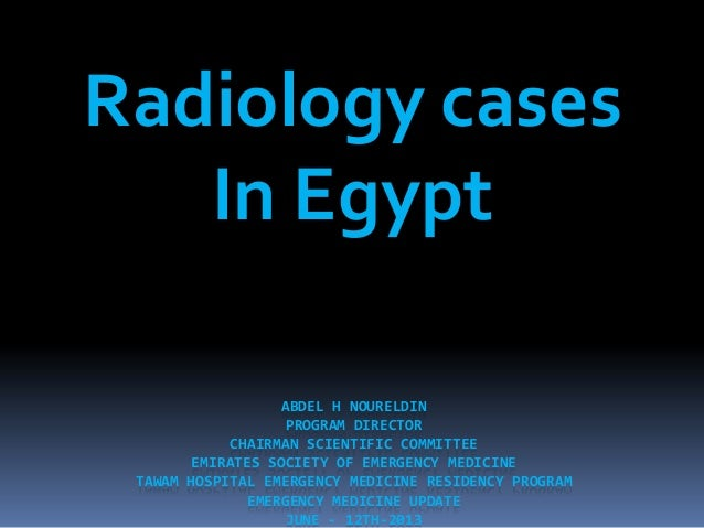 Radiology cases presentation  in egypt