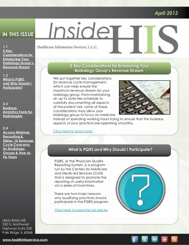 April 2013In This Issue1.15 KeyConsiderations forEnhancing YourRadiology Group'sRevenue Stream                        5 Ke...