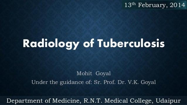 Radiology of Tuberculosis