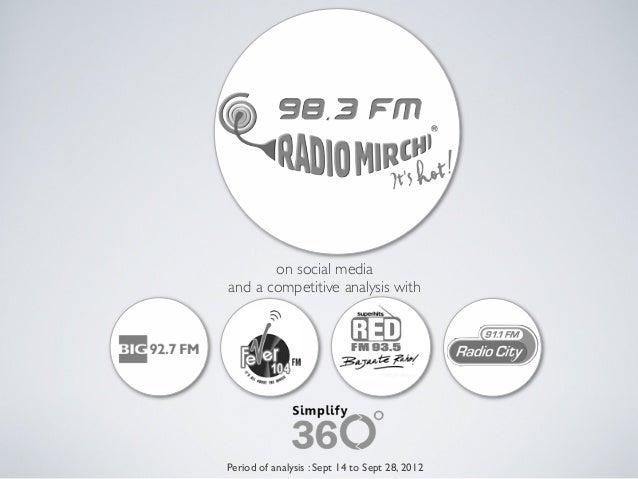 Social Media analysis of FM Radios