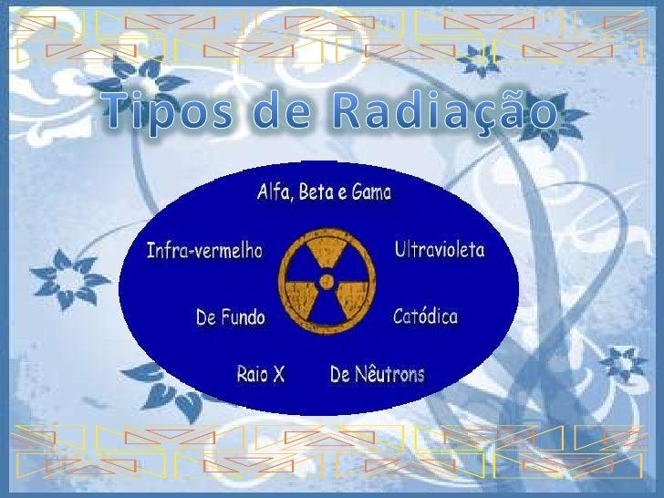 Tipos de Radiação<br />